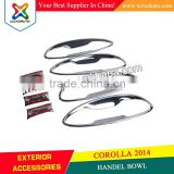 AUTO ACCESSORIES TOYOTA COROLLA ALTIS 2014 HANDLE BOWL 14 ABS CHROME ACCESSORIES