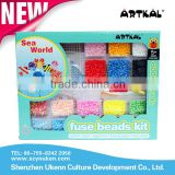 Christmas Gifts Artkal Fuse Beads SL801Diy Intelligent Toys Sea World Children Unique Plastic Puzzle Game