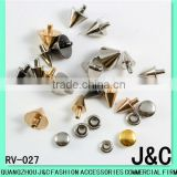 Conic brass decorative rivets rivet