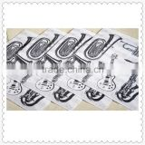 Black & white paper napkin with musical instrument printed custom cocktail napkins