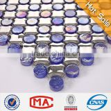 cross shape Plating crystal clear glass mosaic ceramic mosaic porcelain tile mosaic ceramic wall tile