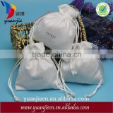 Wholesale custom embossed small suede drawstring bag for jewelry