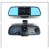 Hot sale GPS dual lens camera dvr dash cam 5 inch mirror dvr (XY-X500)