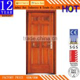 China Supplier New Design Turkey Steel Wooden Armored Security Doors Luxury Villa Entrance Steel Wooden Armored Doors
