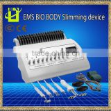 Muscle Stimulator Body Shaping Slimming Machine BIO Electric Muscle Stimulator For Weight Loss Lymphatic Drainage With 10 Pairs