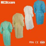 Disposable Medical Surgical Gown Protective Isolation Gowns with Knitted Cuff Elastic Wrist