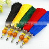 Short beeswax crack bead tassel for bags decoration