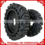 Factory Price High Quality Skid Steer Solid Rubber Tires WithRim 10x16.5 30x10-16 For Trailers Manufacturer With Long Warranty