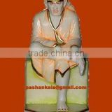 Indian Makrana Marble Sai Baba Idol Statue Handcrafted