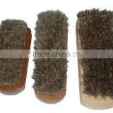pure horse hair wooden shoe brush