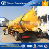 China 2017 factory price CLW5080GXW3 5 cbm vacuum sewage suction tank truck for sewer sewage tank fecal flushing and cleaning