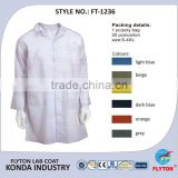 100% Cotton White Lab Coat For Medical Hospital Uniforms Doctor Gown