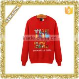 Custom logo print polar fleece sweatshirt crewneck sweaters women's long sleeve t-shirt