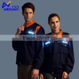 LED flashing safety build coal mine oil field navy blue work wear