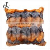 Wholesale Customed Decorative Cushion Covers Real Fox Fur Pillowcase