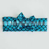 2015 pretty hot fashion bow headband blue mermaid headband