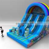 Sea World Summer Type Double Lane inflatable backyard portable used water park slide for beach party