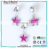 New Fashion Hong Kong Hot sale childrens jewelry star clip on earrings for prom