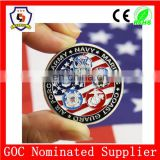 2016 new design military commemorative coins, souvenir coin with 5 military badge design (HH-souvenir coin-0004)