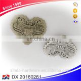 Garment Accessories Nickel Plated Label Heart Shape Metal Bag Logo