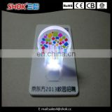 2016 Promotional colorful cheering mini led card light for fais