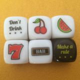 wholease heat printing D4,D6,D8,D10 kinds of plastic acrylic dice/board game dice