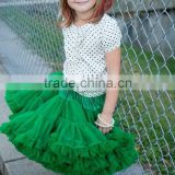 Black ribbon tutus, chiffon pettiskirts for girls,Turquoise skirt dress for girls