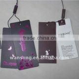 China Direct Manufacturer Custom Printed Garment Hangtag /Paper Hang Tag/Clothing Hang Tag