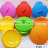 Color style silicone bowl baby bowl with lid