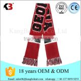100 % acrylic fashion football tassel scarf infinity big logo sports football team scarf