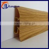 Cheap price polyurethane flooring baseboard pvc moulding ( size 2700*54mm)