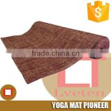 Top grade stylish Custom lable print yoga mat,natural jute yoga mat organic yoga mat sport mats