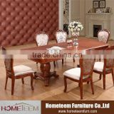 large extension dining room wood dining table set