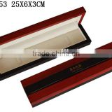 W353 High Glossy Color Paint Wooden Bracelet Box Lining Velvet with Hinge