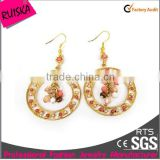 Newest Arrival Free Shipping Earrings With Round Colored Acrylic Beads