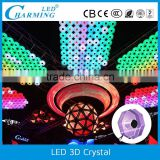 smd 5050 4w led 3d crystal pendant light led crystal table lamp