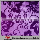 Factory Direct Good Selling Brushed Spandex Polyester Velvet Designer Women Suit Fabric In Cheap Price