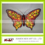 Metal butterfly wall art 3d tv background wall decoration                                                                         Quality Choice