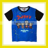2016 Latest Design Products Bros Baby Rinne Benson Boy 100% Cotton Printed Short Sleeve Blue T-Shirt
