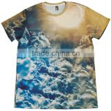 Costom New Plus Size Mens Summer Casual sublimation T-shirt Fashion Short Sleeve Sublimation T-Shirt all over size