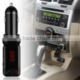 Factory Price Wireless LCD Bluetooth Car Kit 12V MP3 Player Dual USB Charger Handsfree Modulator LCD FM Transmitter