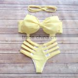 Hot Selling Sexy Neoprene Bikini set Swimwear 2015 sexy girl micro neoprene swimwear models
