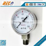 (YBF-50A) 50mm rotary hood ABS window bottom thread type use no oil medical oxygen pressure gauge