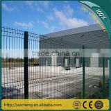 Galvanized Square Post Fence/Wire Fencing Panel/PVC Coated Square Post Fence(Guangzhou Factory)