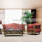 2015 antique wood furniture classic bright red wedding stage sofa HS30