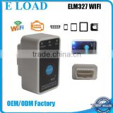 Factory Price New White MINI ELM 327 WIFI ON/OFF Switch OBD2 / OBDII ELM327 V1.5 for Android IOS Auto Scanner