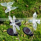 Solar butterflies dragonflies flying birds landscape lamp, garden outdoor decorative LED lights, villa landscape lamp