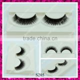 Wholesale price private label double layers synthetic hair eyelash