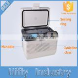 HF-15L DC 12V/AC 220V car refrigerator car cooler mini portable home and car double use car fridge(CE certificate)