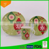 ceramic dinnerware, customized dinner set, porcelain dinner ware set with Christmas design                                                                         Quality Choice